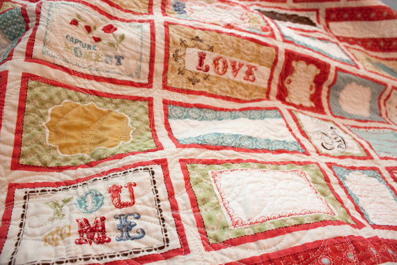 wedding gift ideas from a to z - wedding quilt by sarah says sew