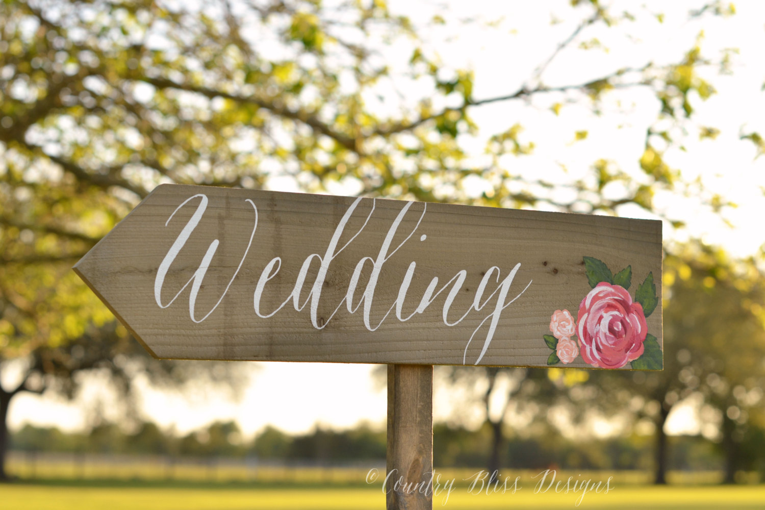 wedding welcome sign by countryblissdesigns