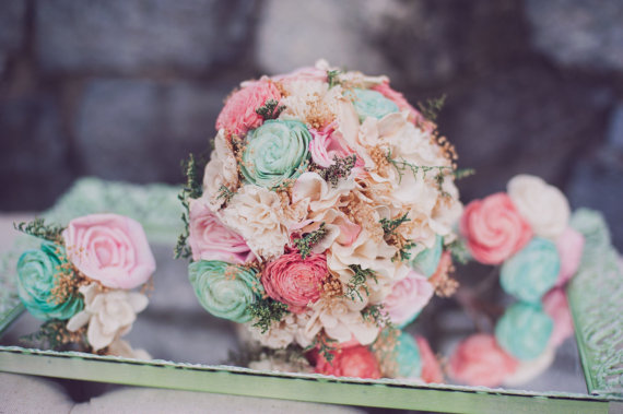 5 Ways to Save Money on Wedding Flowers (bouquet by Curious Crafts, photo by Melania Marta)