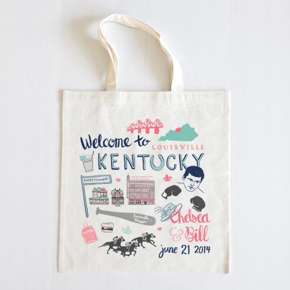 Tote Bag | What to Put in Wedding Welcome Bags | http://emmalinebride.com/planning/wedding-welcome-bags/