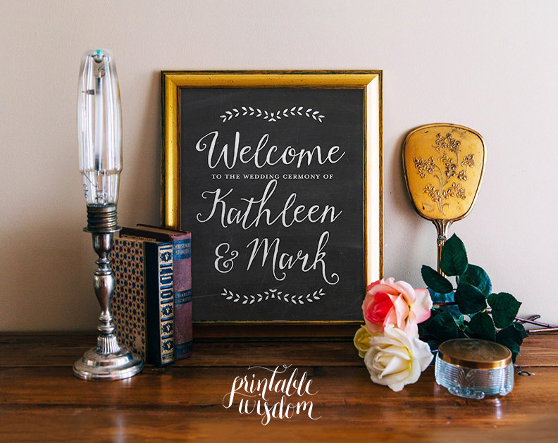 welcome to the wedding ceremony by printable wisdom