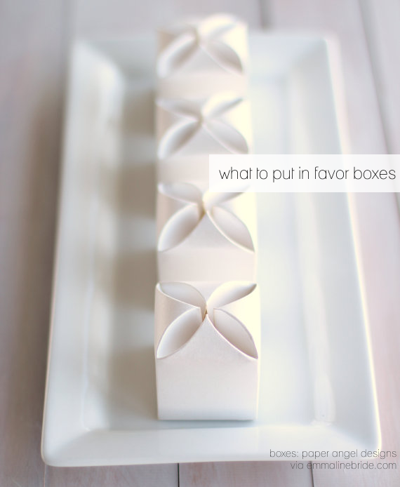 What to Put in Favor Boxes (boxes: paper angel designs)