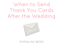 when to send thank you cards after the wedding