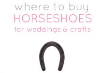 Where to buy sixpence for wedding for Where to buy horseshoes for crafts