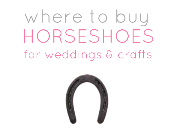 where to buy horseshoes for wedding diy projects ForWhere To Buy Horseshoes For Crafts