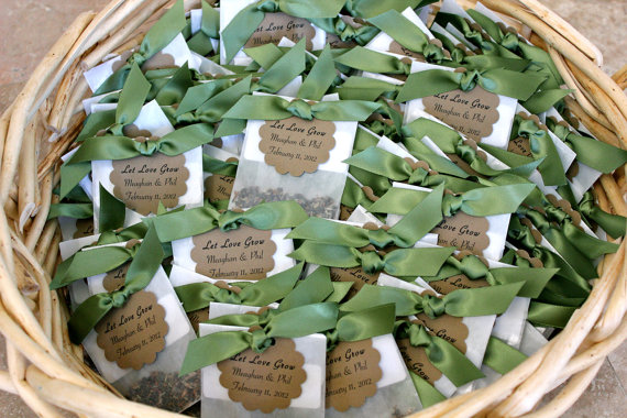 wildflower seed favors ribbon