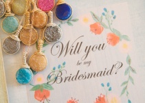 will you be my bridesmaid druzy necklace