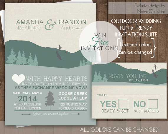 win free printable wedding invitations by noted occasions
