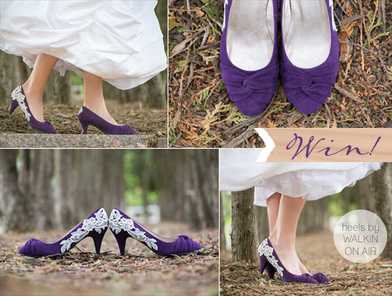 purple wedding heels (giveaway!) by walkin on air