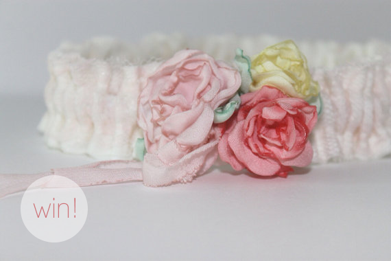 garter giveaway via 5 Shabby Chic Wedding Garters at EmmalineBride.com
