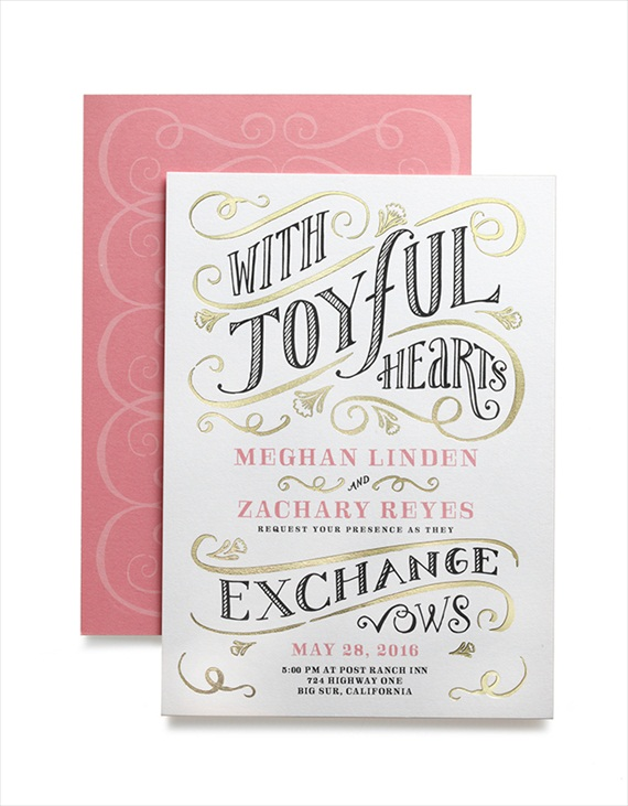 With Joyful Hearts Invitation - Wedding Stationery Trends 2014 via EmmalineBride.com