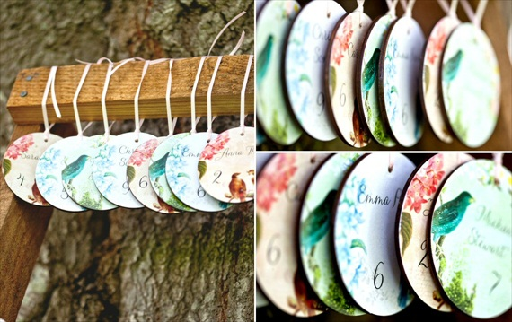 Wood Place Cards / Escort Cards (by Company Forty Two)