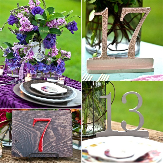 wood table numbers (via Table Number Mistakes to Avoid)