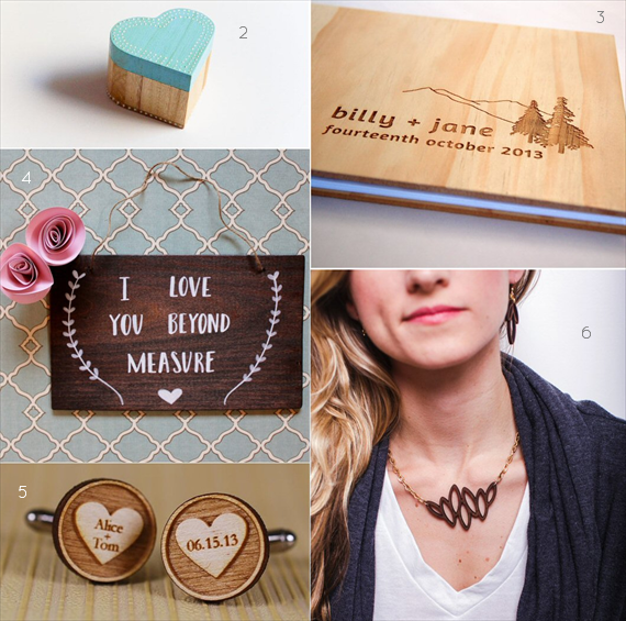 wood themed wedding ideas - accessories