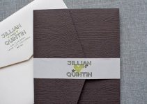 wood themed wedding invitation