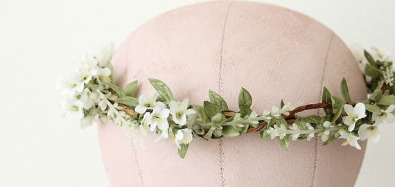 woodland bridal flower crown