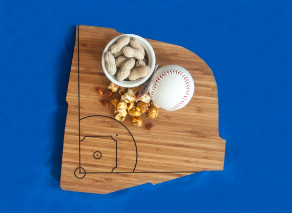 wrigley field cutting board