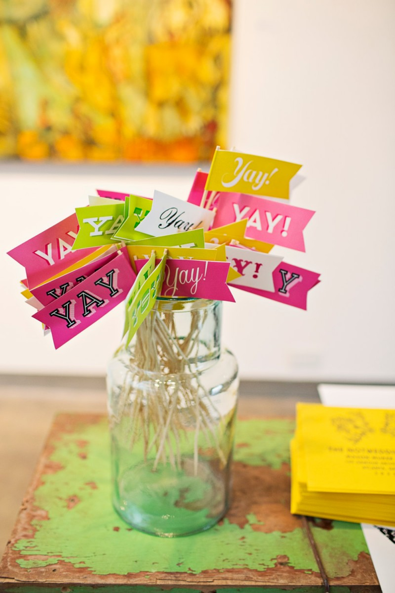 yay celebratory drink flags | Fun Wedding Photo Props | http://emmalinebride.com/decor/fun-wedding-photo-props/