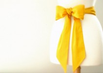 yellow dress sash