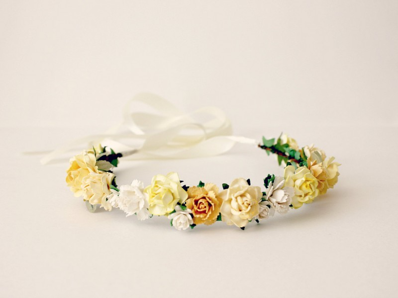 yellow - spring wedding crowns | via http://emmalinebride.com/bride/spring-wedding-crowns/