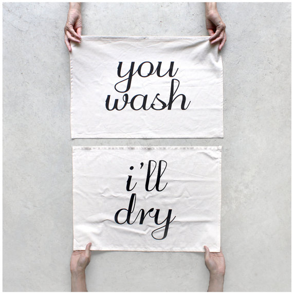 you wash ill dry tea towels via Top 10 Non Registry Wedding Gifts