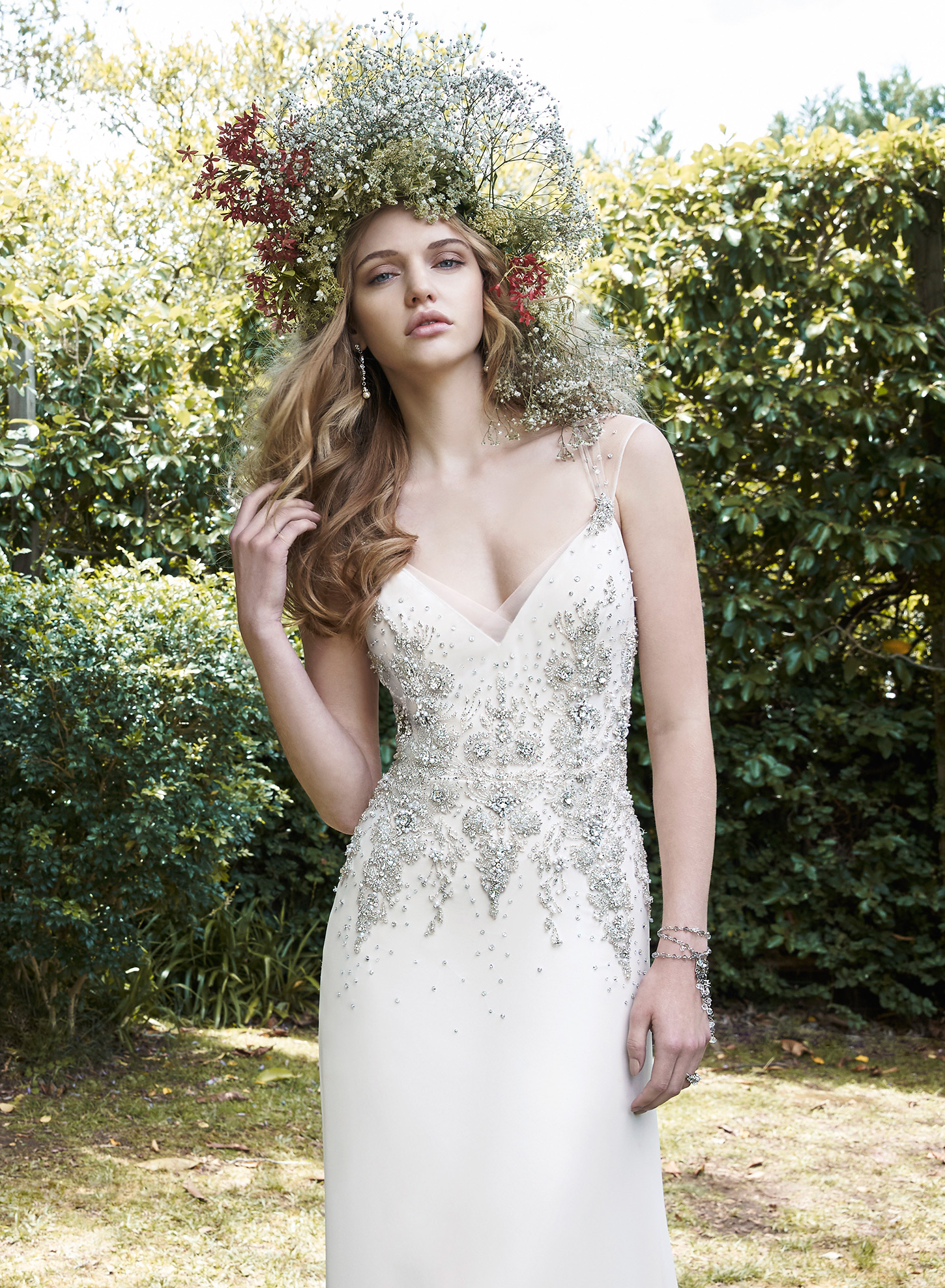 ZARINA | Sheath Wedding Dresses by Maggie Sottero | via EmmalineBride.com